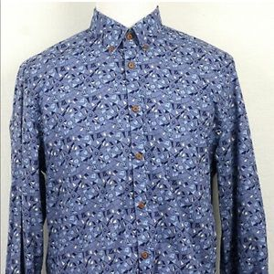 New! Ben Sherman The Vintage Bunting Shirt